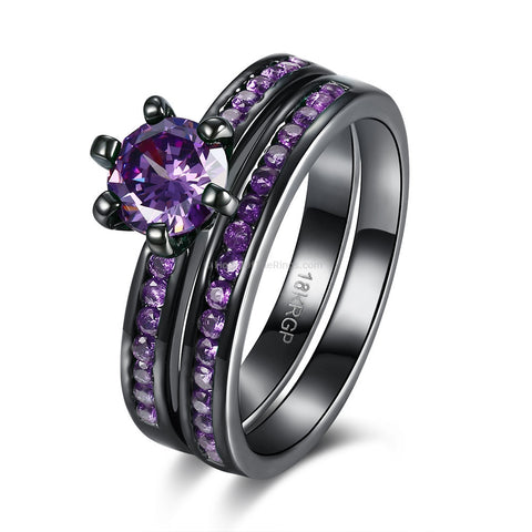 Dark Night Purple Ring #rippedjeans