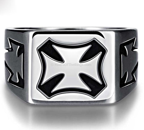 Rock Goth Cross Ring