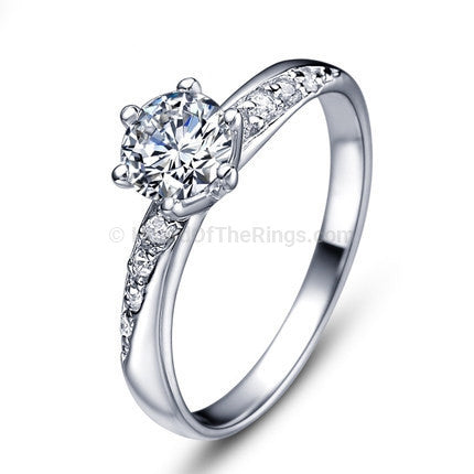 Zirconia Silver Engagement Ring