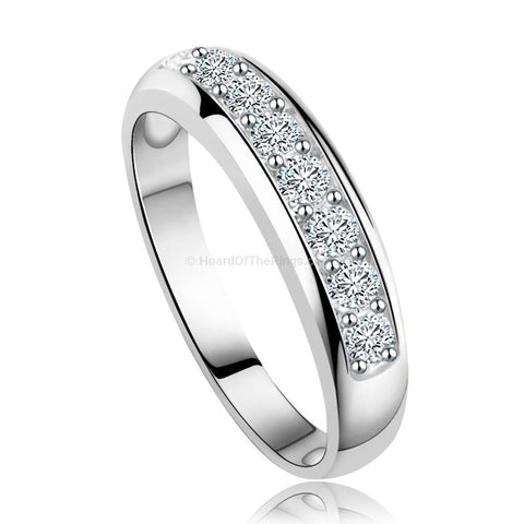 Platinum Plated Eternity Ring - HoardOfTheRings.com