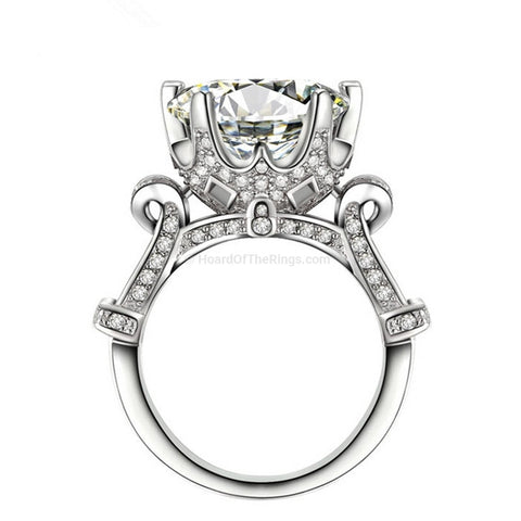 Finest 8ct Clear CZ Ring - HoardOfTheRings.com