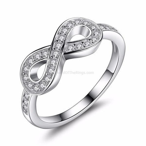 The Lady Infinity Ring - 4 Designs - HoardOfTheRings.com