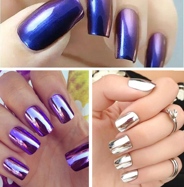 NEW! Chrome Mirror Nail Powder Kit In 12 Super Hot Colors - lust4nails