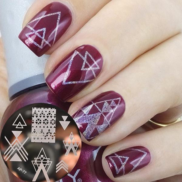 Geometric Nail Stamping Plate - lust4nails