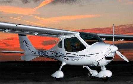 Flight Design CTLS Light Sport Aircraft with Factory Hand Controls