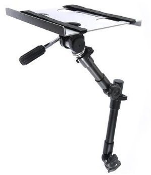 Robo Arm Ventilated Aluminum Laptop Tray with Velcro Loop Straps - Broadened Horizons Direct