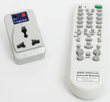 Infrared ECU 220VAC Wall Outlet Controller with Remote - Broadened Horizons Direct