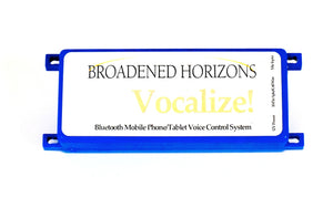 Vocalize Bluetooth Cell Phone Voice Control QuickStart Package - Broadened Horizons Direct
