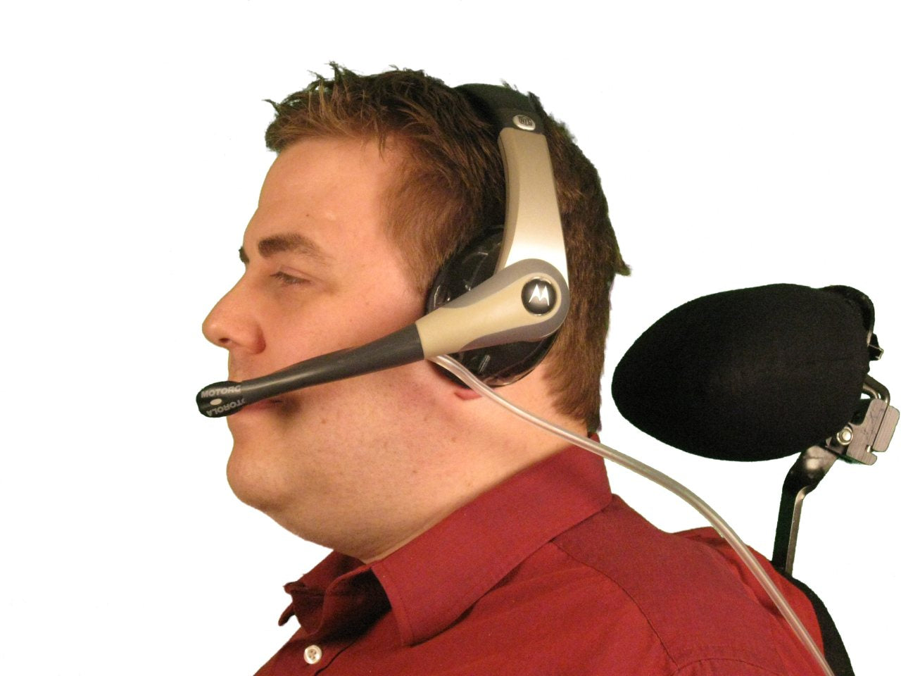 Sip-n-Puff Xbox 360 Motorola NFL-Style Gaming Headset - 3.5mm Stereo Headphone Jack - Broadened Horizons Direct