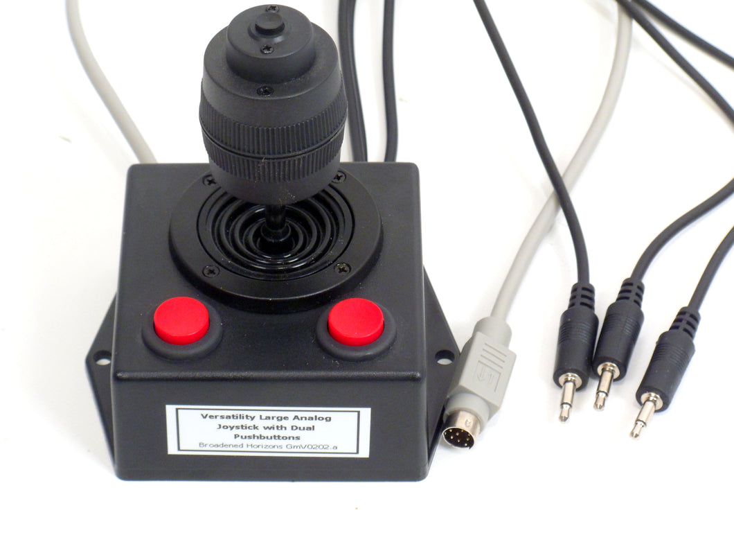 Versatility Large Analog Joystick with dual Pushbuttons - Broadened Horizons Direct