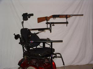 Sharp-Shooter Limited Arm Mobility Wheelchair Gun Mount - Broadened Horizons Direct