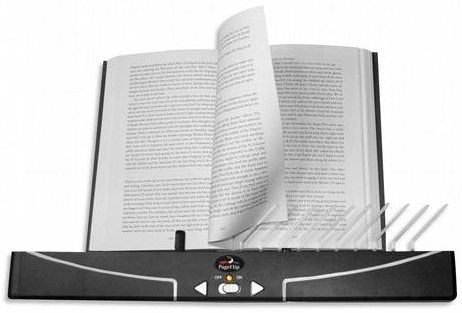 Automatic Page Turner for Books Accessibility Package with Wireless Fist/Foot Switches and Adapter for any Dual Ability Switches - Broadened Horizons Direct