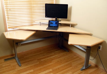 The Maverick Command Center Powered Height Adjustable Workstation Package & FREE USA SHIPPING - Broadened Horizons Direct
