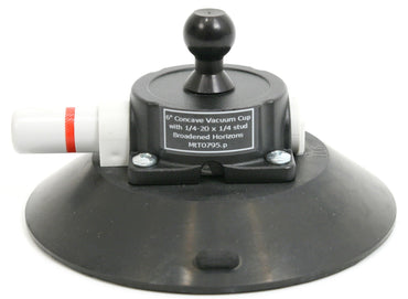 3rd Arm 6 inch Vacuum Suction Cup Base - Heavy Duty 75lbs with Plunger - Broadened Horizons Direct