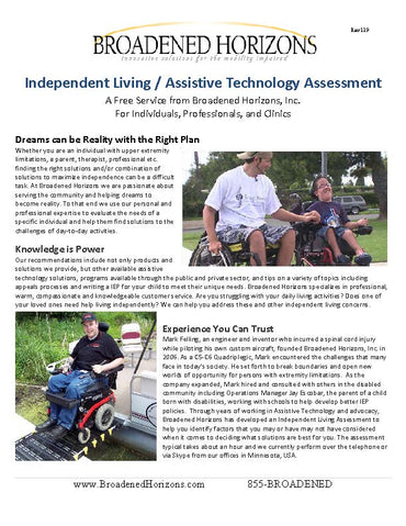 FREE Independent Living Assistive Technology Assessment - Broadened Horizons Direct