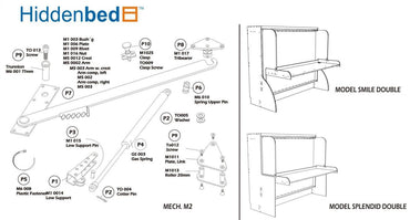 DIY Horizontal Queen Do-It-Yourself Mechanism, Plans Drawings, & Assembly Instructions - Broadened Horizons Direct