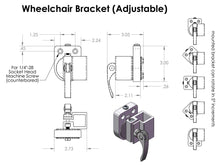 Load image into Gallery viewer, Mount'n Mover Adjustable Angle Wheelchair Bracket - Broadened Horizons Direct