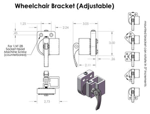 Mount'n Mover Adjustable Angle Wheelchair Bracket - Broadened Horizons Direct