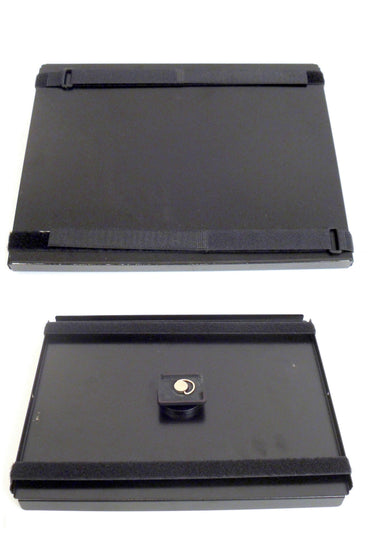 Robo Arm Multiuse Black Aluminum Tray with Velcro Straps for Laptop - Broadened Horizons Direct