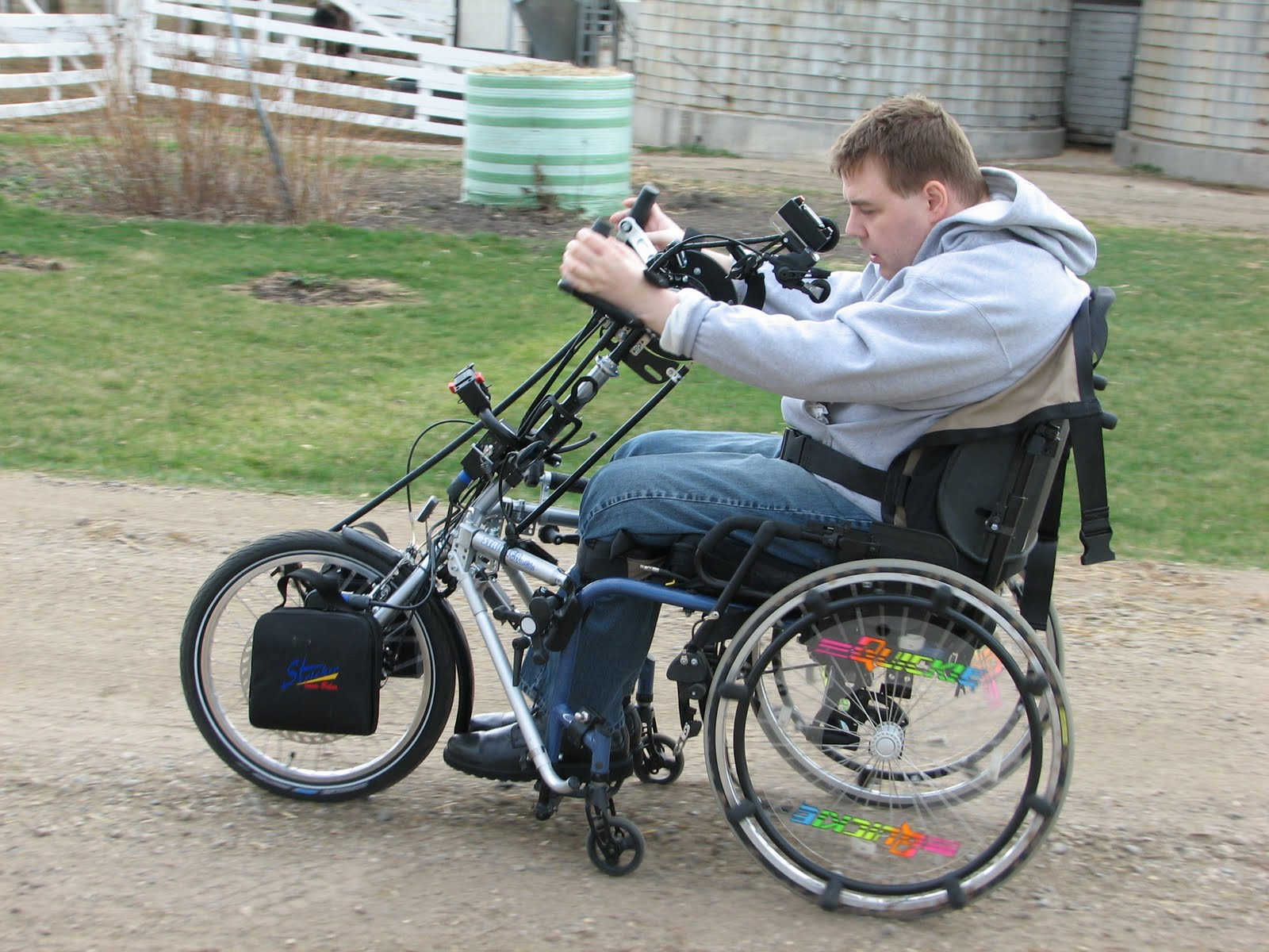 Stricker ElectroBike Quadriplegic Power Assist Handcycle conquerors gravel