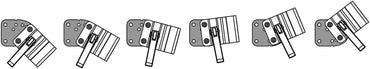 Angle Adjustment Plate for Fixed Angle Wheelchair Frame Bracket on Mount'n Mover or Robo Arm - Broadened Horizons Direct