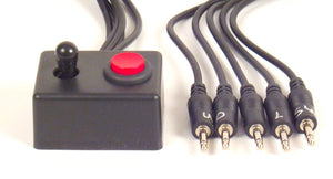 Micro Digital 4 way Joystick with Pushbutton (5 Switch 3.5 mm plugs) - Broadened Horizons Direct