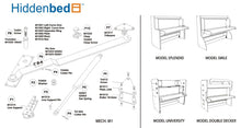 Load image into Gallery viewer, DIY Double-Decker Twin over Twin (Single) Do-It-Yourself Mechanism, Plans Drawings, & Assembly Instructions - Broadened Horizons Direct