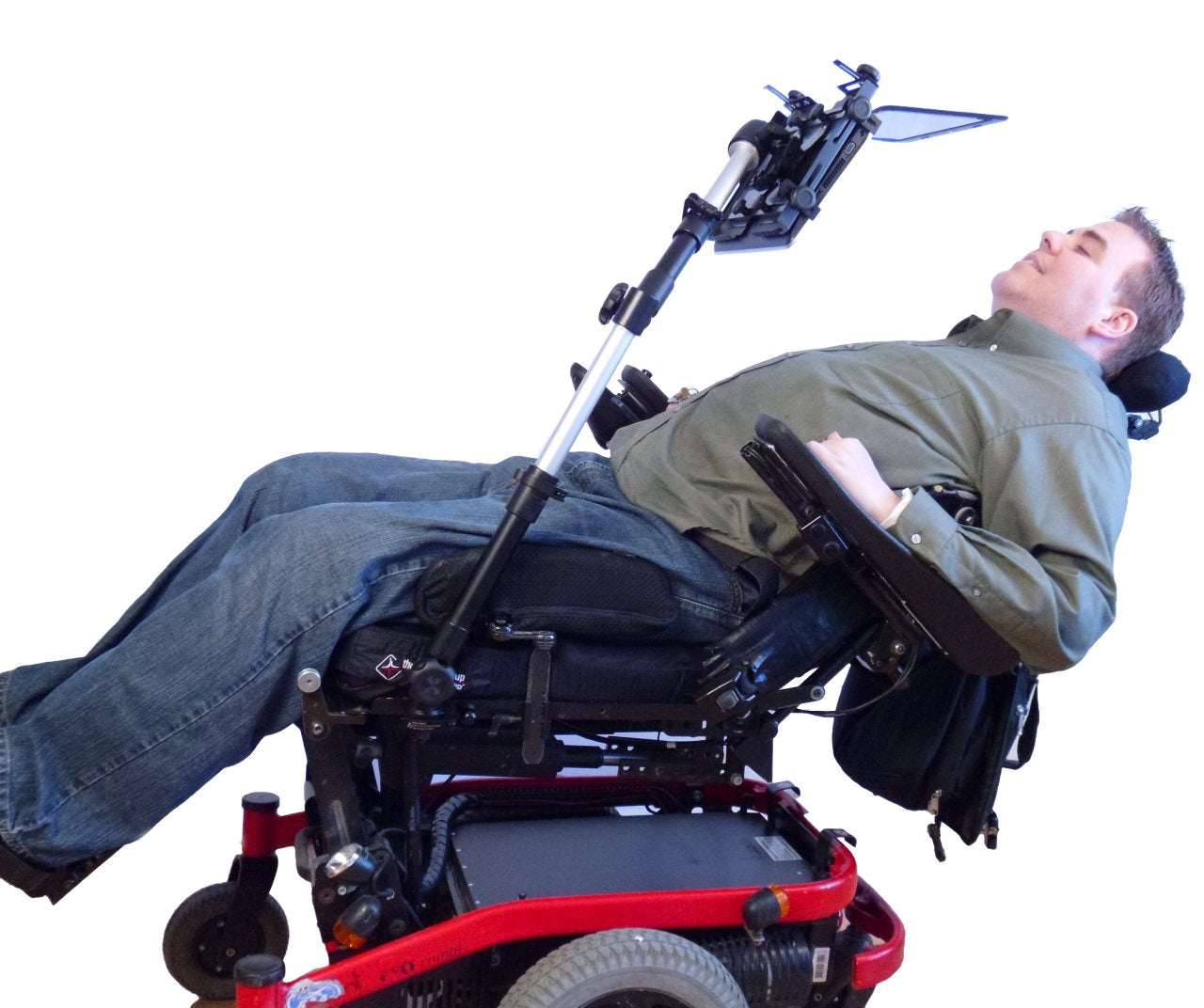 Robo Arm Extreme Positioning on reclined wheelchair