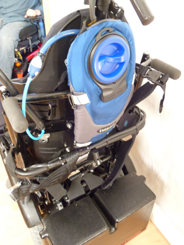 Sip / Puff / Bite plus H2O Hydration on Wheelchair Backrest Mount - Broadened Horizons Direct