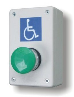 Handicapped Wireless Wall-Mount Big Button for Compact Door Openers - Broadened Horizons Direct