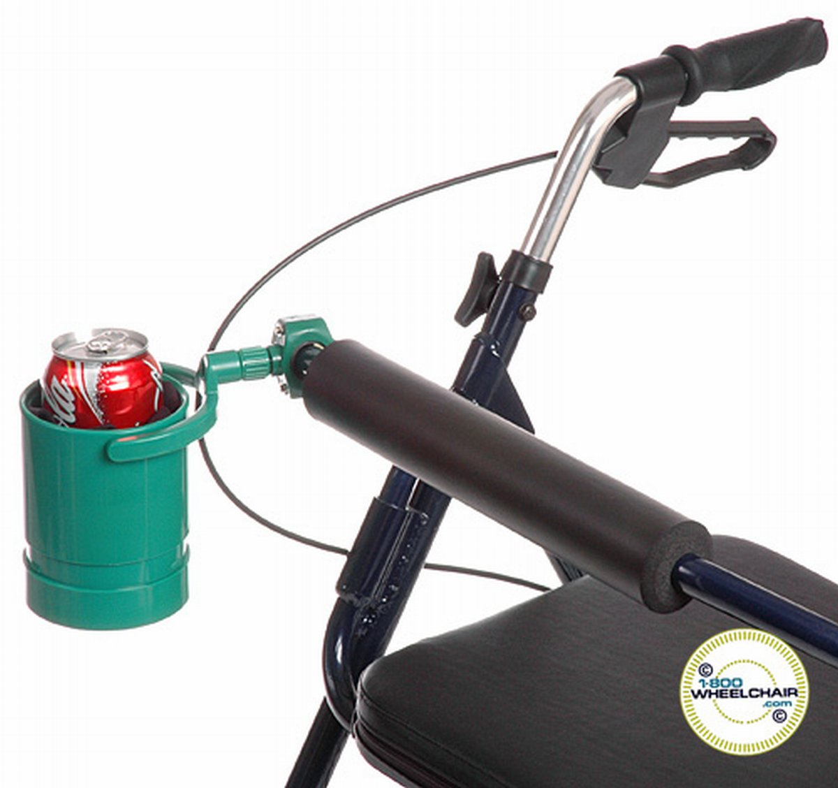 Wheelchair Drink Holder - Swiveling & Expandable Cup - Broadened Horizons Direct