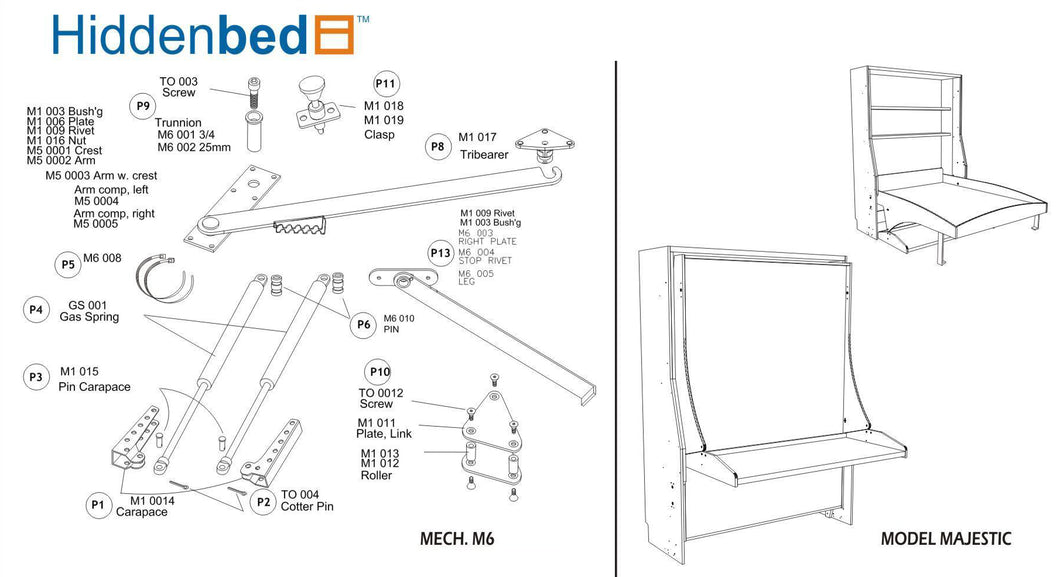 DIY Majestic Queen Do-It-Yourself Mechanism, Plans Drawings, & Assembly Instructions - Broadened Horizons Direct