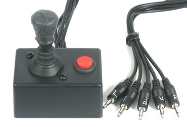 Medium Digital 4 way Joystick with Pushbutton (5 Switch 3.5 mm plugs) - Broadened Horizons Direct