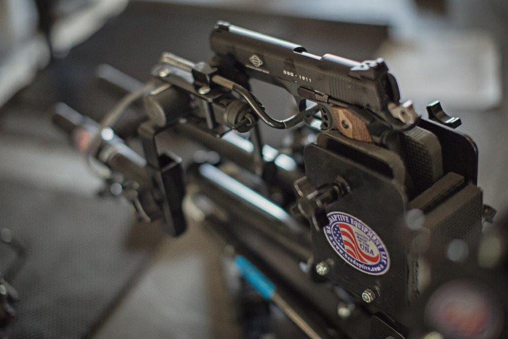 Hands-free Pistol Mount Add-On to Powershooter - Broadened Horizons Direct