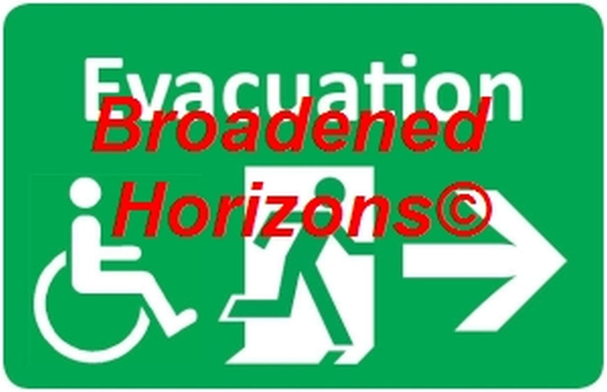 Handicapped Evacuation Wall Signs 7x10in - Broadened Horizons Direct