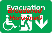 Load image into Gallery viewer, Handicapped Evacuation Wall Signs 7x10in - Broadened Horizons Direct