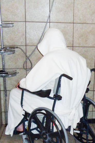 Comfort Robe - Bathroom Privacy & Comfort for Wheelchairs - Broadened Horizons Direct