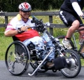 Stricker ElectroBike Quadriplegic Power Assist Handcycle side view