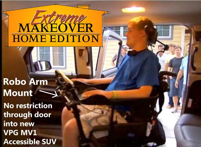 Robo Arm Mount clears door in new MV1 Accessible SUV