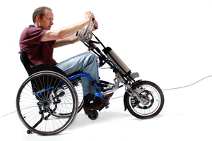 eDragonfly Power Assist Handcycle for Manual Wheelchair - Broadened Horizons Direct
