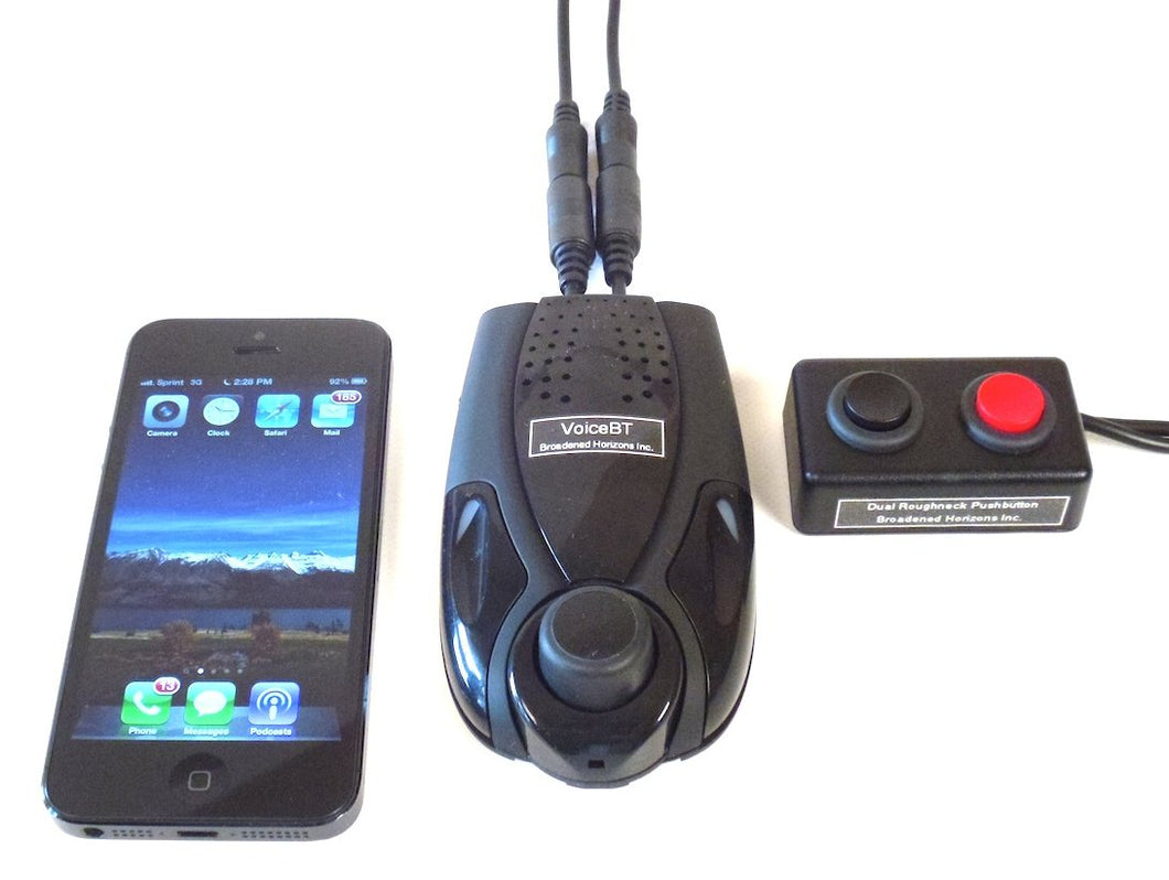 VoiceBT Switch Enabled Bluetooth Speakerphone Cell Phone Voice Dialer - Broadened Horizons Direct