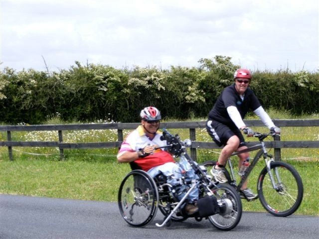 Stricker ElectroBike Quadriplegic Power Assist Handcycle -keep up with other bikers