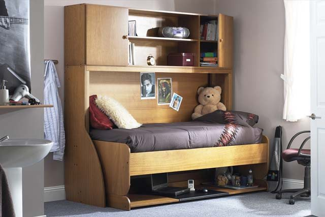Horizontal Transforming Desk to Twin (Single) Hidden Bed - Broadened Horizons Direct