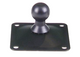 3rd Arm 2.5'' x 2.5'' Surface Mount Base.  Black Metal Square with 4 Screw Holes - Broadened Horizons Direct