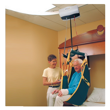 Medcare Pro Heavy Duty Ceiling Lift (up to 1000 lbs) - SPECIAL BUY - $20,000 Retail! - Broadened Horizons Direct