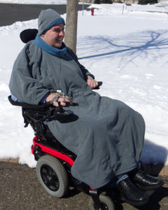 Comfort Coat Polartec Microfiber Fleece Wheelchair Poncho - Broadened Horizons Direct