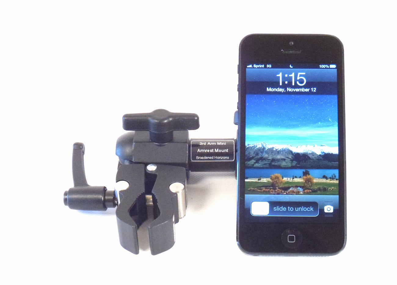 3rd Arm Wheelchair Armrest Smartphone Mini Mount - Broadened Horizons Direct
