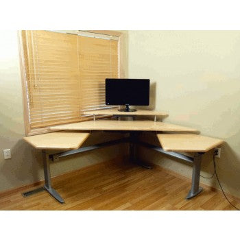 Executive Command Center Manual Height Adjustable Workstation Package & FREE USA SHIPPING - Broadened Horizons Direct