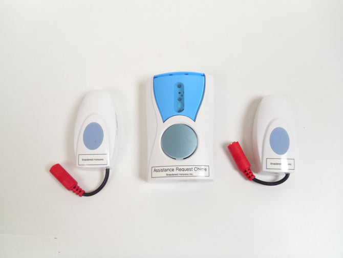Wireless Nurse Call Chime - 2 Switch Enabled Transmitters & 1 Receiver - Broadened Horizons Direct