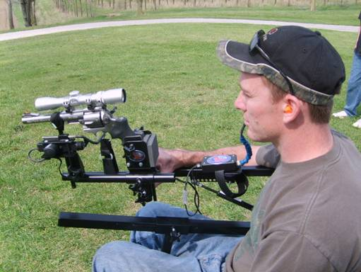 Pistol Mount Add-on for Limited Arm Mobility Wheelchair Gun Mount for Sharp-Shooter - Broadened Horizons Direct